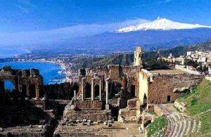 Teatro greco-romano antico di Taormina