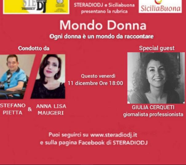 Mondo Donna: intervista la giornalista Giulia Cerqueti